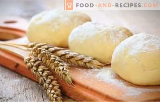 Lean yeast and flaky pastry for pies, pies and dumplings: all the secrets. Recipes of lean dough on water, rolled oats, soda