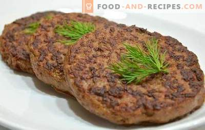 Beef liver cutlets - masking a useful by-product! Beef liver cutlets: traditional and original recipes