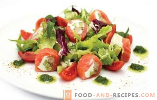 Salad with smoked tomatoes - appetizer with smoke! Recipes for delicious salads with smoked tomatoes for all occasions