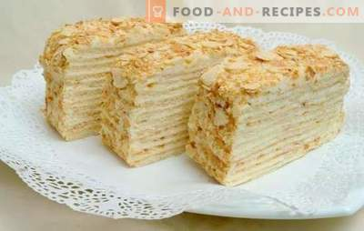 Recipes of the Napoleon cake of Soviet times with the very taste! Cooking, assembly, features and recipes of cakes