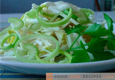 Celery and apple salad are the best recipes. How to properly and tasty cook celery salad with an apple.
