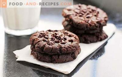 Chocolate Cookies: A step-by-step recipe for a delicious baking. Cooking delicious and aromatic chocolate chip cookies using step-by-step recipes