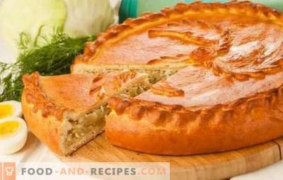 Pies with cabbage in the oven - step-by-step recipes for delicious pastries. Recipes of bulk and yeast pies with cabbage in the oven