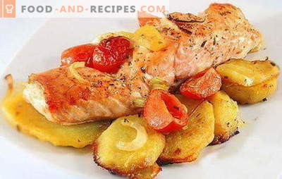 Red fish with potatoes - a combination of nobility and simplicity. Recipes of red fish with potatoes: in foil, oven, in a pan