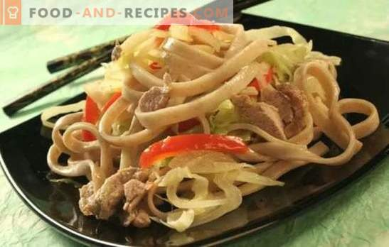 Noodles with pork: many ways to prepare and serve a simple dish. How tasty and quickly cook noodles with pork
