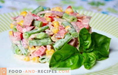 Salad with ham and corn: plain or puff? Simple and complex recipes for cooking salad with ham and corn