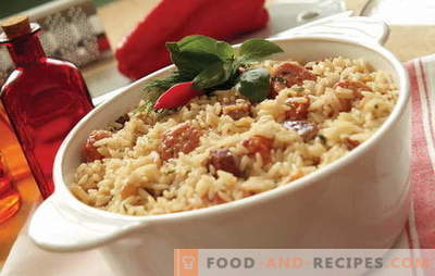 What to cook rice with meat in the oven? Ideas for culinary inspiration: recipes for rice dishes with meat in the oven