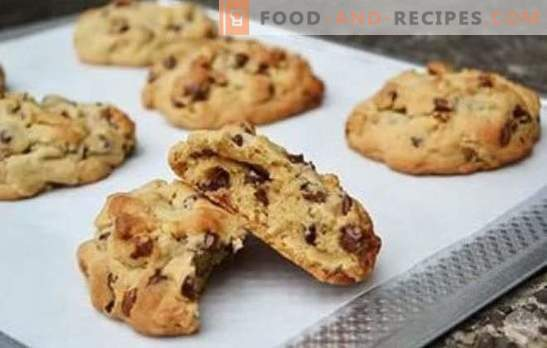 Remarkably beautiful and delicious crunchy walnut cookies. Sand, cottage cheese and oatmeal - recipes biscuits with walnuts