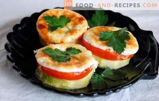 Zucchini with tomatoes and cheese, baked in the oven: juicy, with a wonderful crust. Original recipes of zucchini with tomatoes and cheese, baked in the oven