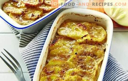 Minced meat in the oven with potatoes (step-by-step recipe): many options. Stuffing in the oven with potatoes (step by step): in the form and pots