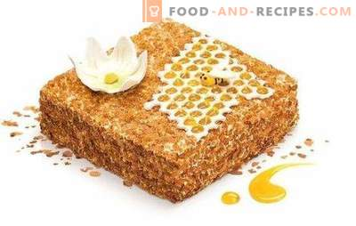 Honey cake with sour cream. A variety of options for dough and impregnation for honey cake with sour cream.