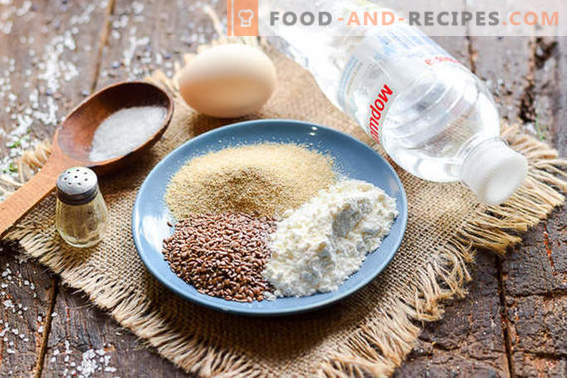 Delicious dietary oat bran pancakes with flax seeds
