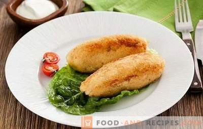 Zrazy fish - a simple, healthy, tasty dish. Recipes of fish dishes with mushrooms, egg, cheese, pickled cucumbers