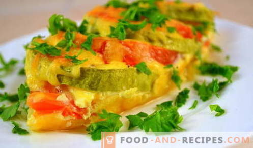Squash with cheese - the best recipes. How to properly and tasty cooked zucchini with cheese.