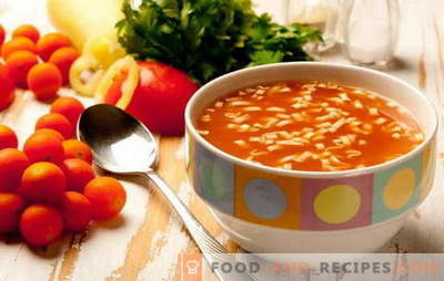 Cooking low-fat soups - recipes from different products for different portions. Low-fat soups: vegetable, fish, with dumplings