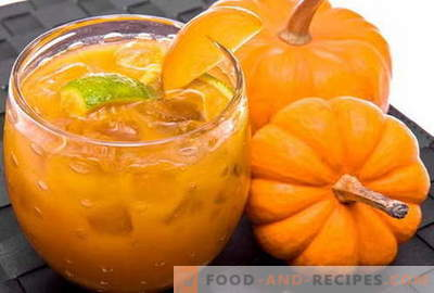 Pumpkin juice - the best recipes. How to properly and tasty cook healthy pumpkin juice