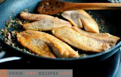 Tilapia in a pan - juicy, tender and tasteful. Simple recipes fried with a crispy crust and tender tilapia stew in a pan