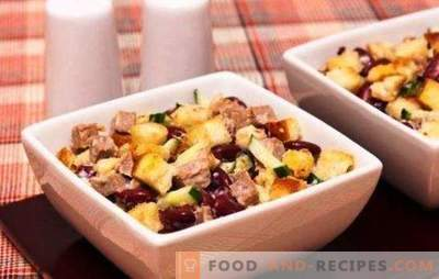Salads with beans and cheese - nourishing and nutritious! Recipes everyday and festive salads with beans and cheese