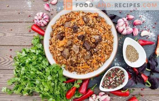 What spices are needed for pilaf. Why tomato paste in pilaf not put