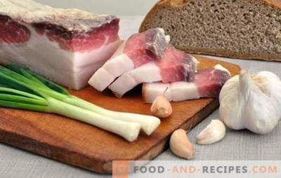 How to pickle bacon with garlic: success - in choosing the right raw materials. Simple and complex recipes for salting bacon with garlic