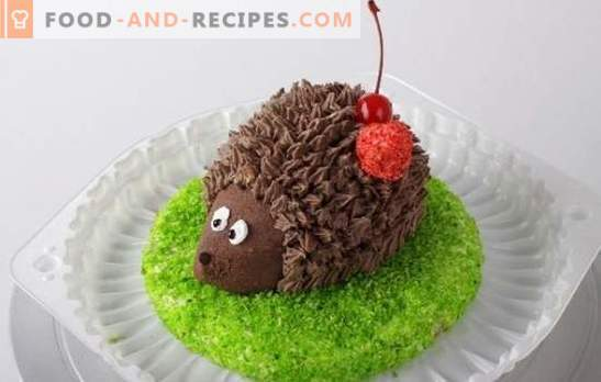"Cake ""Hedgehog"" will appeal not only to children! We bake and collect ""Hedgehog"" cakes with different creams from ready-made cakes"