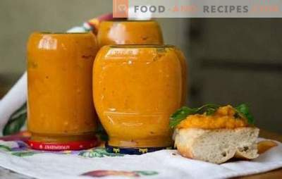 Pumpkin caviar for the winter is a tasty way to preserve vitamins. The best recipes for cooking caviar on the stove, in the slow cooker and oven