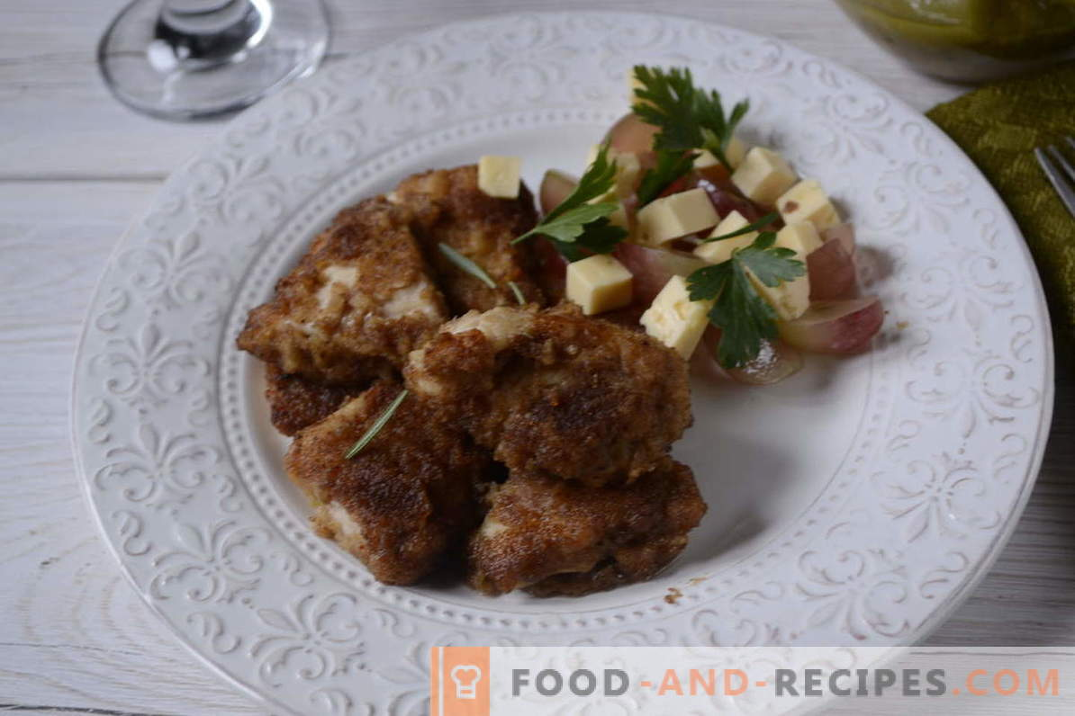 Breaded chicken marinated in soy sauce - cook for 20 minutes! Step-by-step photo-recipe of breaded chicken fillet with an oriental flavor