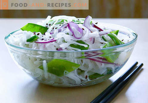 Daikon salads - five best recipes. How to properly and tasty cook salads from daikon.