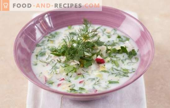 Okroshka on kefir with mineral water - the queen of cold soups! A selection of different okroshka on kefir with mineral water, recipes and subtleties