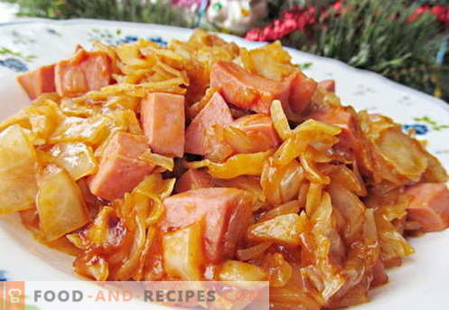 Fried cabbage - the best recipes. How to properly and tasty cook fried cabbage.