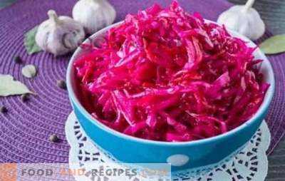 Cabbage with pickled beets (instant) - harmony of taste. The best recipes for quick cabbage with pickled beets