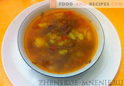 Soup with Rustic beans - recipe with photos and step by step description