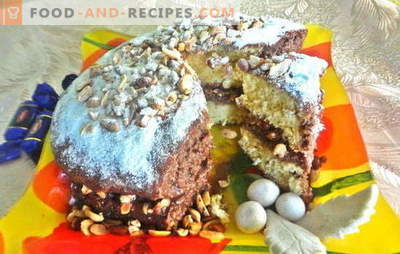 "Delicious cake for any celebration, the long-awaited - Snickers! Photo-recipe of step-by-step cooking of the cake ""Snickers"""