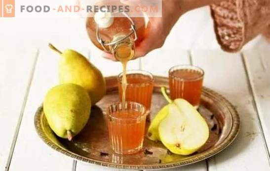 Tincture of pears at home - delicious alcohol! A selection of the best recipes tincture of pears at home