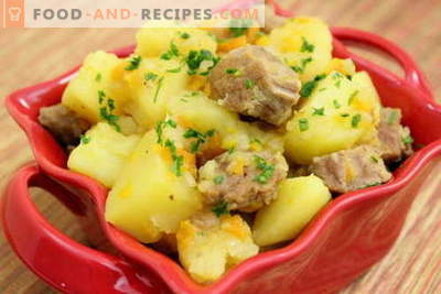 Potato with meat in a slow cooker - the best recipes. How to properly and tasty cook potatoes with meat in a slow cooker.