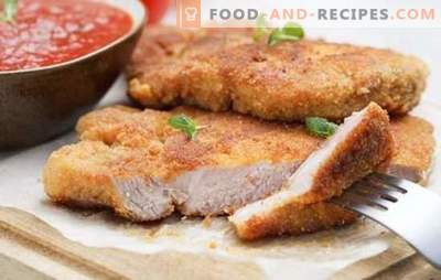 Pork chop in the oven - a classic! A selection of pork chops recipes in the oven: breaded, with sauce and vegetables