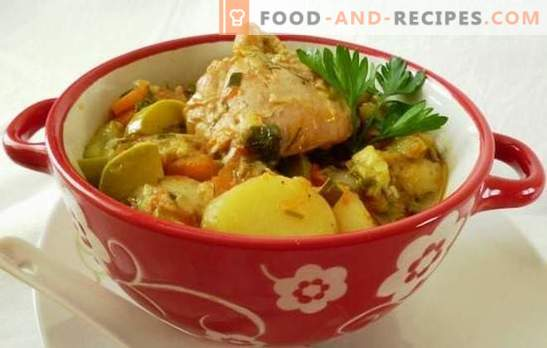 Chicken stew in a slow cooker - a nourishing dietary dish. How to cook chicken stew in a slow cooker, while retaining the benefits of vegetables