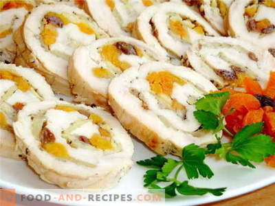 Chicken roll - the best recipes. How to properly and cook chicken roll.