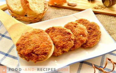 Fry quickly, tasty, deftly we cutlets in breading. Classic entrees: the best recipes for breaded cutlets