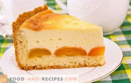 Pie with cottage cheese and apricots is a delicious healthy dessert. Recipes for cottage cheese pies and apricots from different types of dough