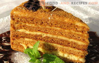 Honey cake - the best recipes. How to properly and deliciously cook a honey cake.