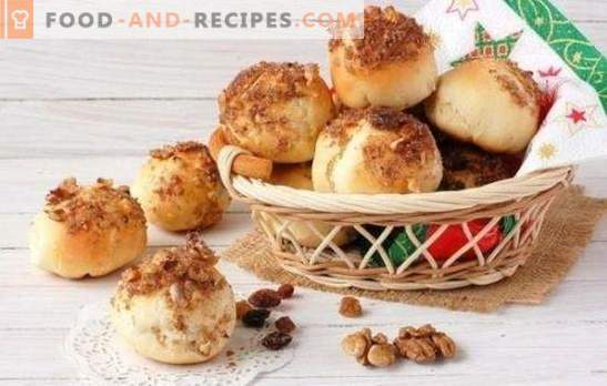Lenten buns - do not refuse snacks! Recipes for lean buns with poppy seeds, raisins, cinnamon, sesame, potatoes