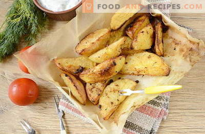Country-style potato in the oven with savory spices