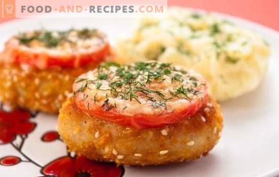 Cutlets in the oven (step-by-step recipe) is an alternative to steam cutlets. Variants of cutlets in the oven: dietary and with sauce