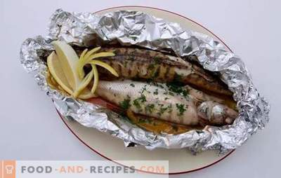 Perch in the oven in foil: in the menu - a noble, dietary fish. Interesting recipes for perch in the oven in foil: step by step