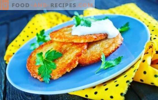 Pancakes with cheese - pancakes with a delicate creamy taste. The best recipes for pancakes with cheese: potato, zucchini, rice, etc.