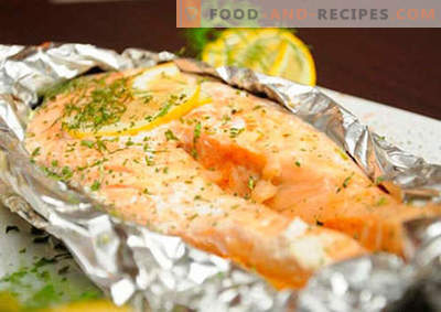 Salmon in foil - the best recipes. How to properly and tasty cook salmon in foil.