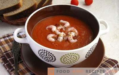 Tomato soup with shrimps - an aromatic delicacy. The best recipes for tomato soup with shrimp and other seafood