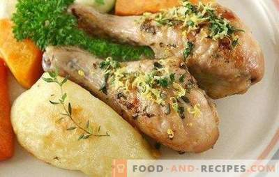 Shins in mayonnaise - no easier recipe! Cooking the most delicious chicken drumsticks in mayonnaise with pepper, potatoes, apples