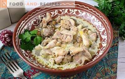 Chicken stew with mushrooms: nourishing and fragrant! Step-by-step author's recipe of quick cooking chicken with mushrooms in a slow cooker